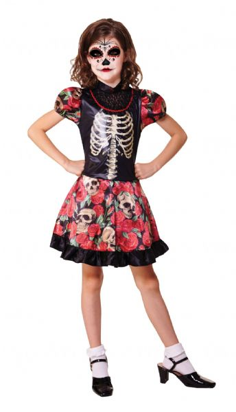 Girls Day of the Dead Girl Costume Walking Dead halloween Zombie Fancy Dress